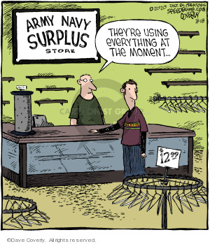Comic Strip Dave Coverly  Speed Bump 2020-03-18 originally
