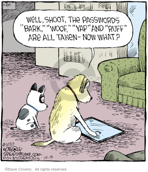 Comic Strip Dave Coverly  Speed Bump 2020-10-19 shoot
