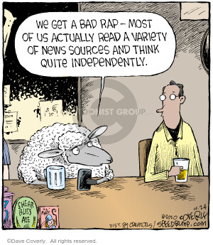 Comic Strip Dave Coverly  Speed Bump 2020-10-24 thought