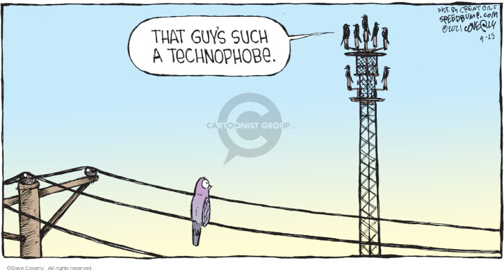Comic Strip Dave Coverly  Speed Bump 2021-04-25 cell phone