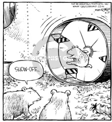 Comic Strip Dave Coverly  Speed Bump 2002-04-19 cage