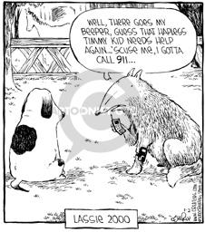 Comic Strip Dave Coverly  Speed Bump 2000-01-02 'scuse