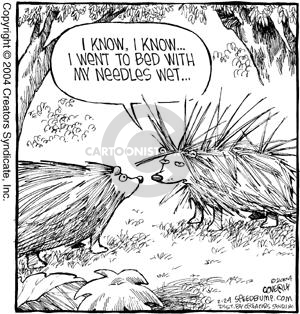 Comic Strip Dave Coverly  Speed Bump 2004-02-24 porcupine