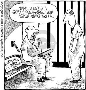 Cartoonist Dave Coverly  Speed Bump 2004-02-26 prisoner