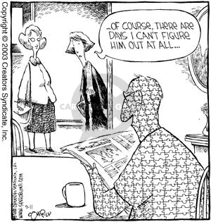 Comic Strip Dave Coverly  Speed Bump 2003-09-11 figure out
