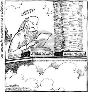 Cartoonist Dave Coverly  Speed Bump 2003-10-01 harm