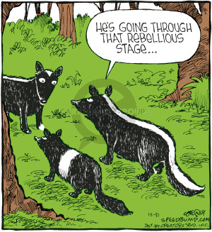 Comic Strip Dave Coverly  Speed Bump 2007-12-21 skunk