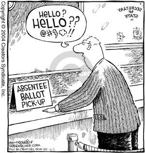 Comic Strip Dave Coverly  Speed Bump 2004-11-01 absentee ballot