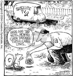 Comic Strip Dave Coverly  Speed Bump 2004-12-07 cable installer