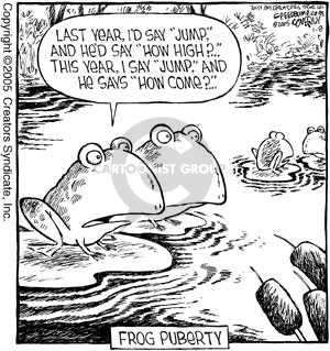 Comic Strip Dave Coverly  Speed Bump 2005-01-08 say