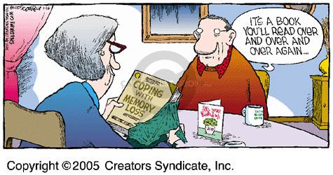 Comic Strip Dave Coverly  Speed Bump 2005-01-16 memory book