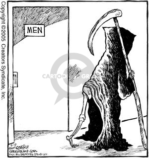 Cartoonist Dave Coverly  Speed Bump 2005-02-10 cape