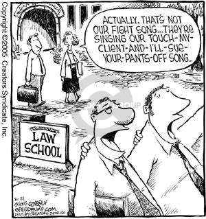 Cartoonist Dave Coverly  Speed Bump 2005-03-21 legal education