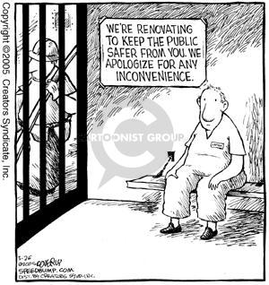 Cartoonist Dave Coverly  Speed Bump 2005-03-26 prisoner