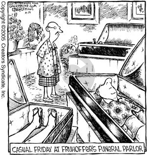 Comic Strip Dave Coverly  Speed Bump 2005-04-15 funeral parlor