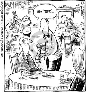 Comic Strip Dave Coverly  Speed Bump 2005-04-21 eating out