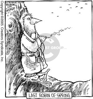 Cartoonist Dave Coverly  Speed Bump 2005-04-27 smoking