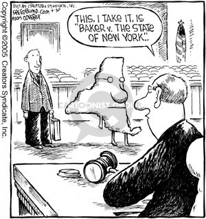 Cartoonist Dave Coverly  Speed Bump 2005-05-30 lawsuit