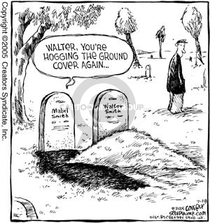 Comic Strip Dave Coverly  Speed Bump 2005-07-28 burial