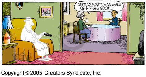 Cartoonist Dave Coverly  Speed Bump 2005-08-21 normal speed