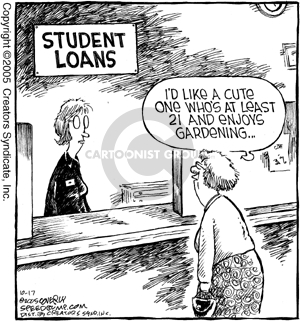 Comic Strip Dave Coverly  Speed Bump 2005-10-17 student loan