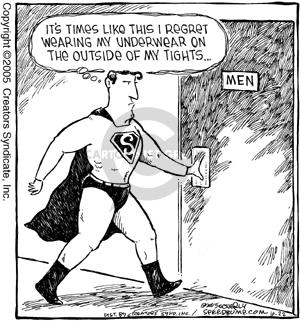 Comic Strip Dave Coverly  Speed Bump 2005-10-22 Superman
