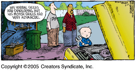 Cartoonist Dave Coverly  Speed Bump 2005-10-23 vehicle maintenance