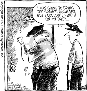 Cartoonist Dave Coverly  Speed Bump 2005-10-29 law