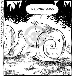 Cartoonist Dave Coverly  Speed Bump 2005-11-07 maintenance