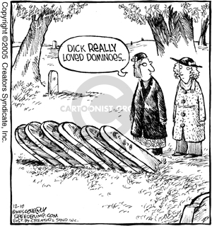 Comic Strip Dave Coverly  Speed Bump 2005-12-10 tombstone
