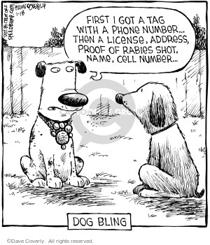 Comic Strip Dave Coverly  Speed Bump 2006-01-18 dog tag