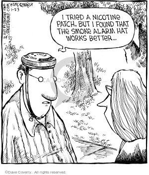 Cartoonist Dave Coverly  Speed Bump 2006-01-23 smoking