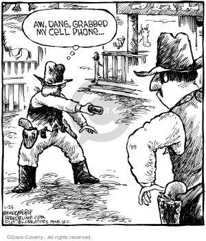 Comic Strip Dave Coverly  Speed Bump 2006-01-25 gun