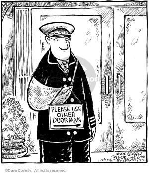 Comic Strip Dave Coverly  Speed Bump 2006-01-28 doorman