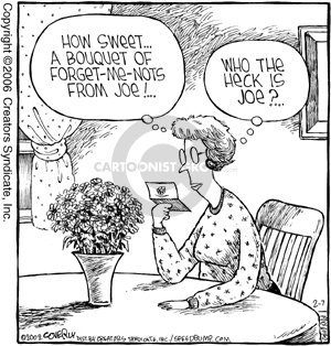 Comic Strip Dave Coverly  Speed Bump 2006-02-07 flower bouquet