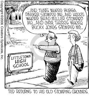 Comic Strip Dave Coverly  Speed Bump 2006-02-18 high school reunion