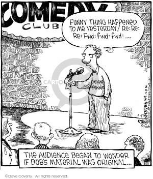 Cartoonist Dave Coverly  Speed Bump 2006-04-17 forward