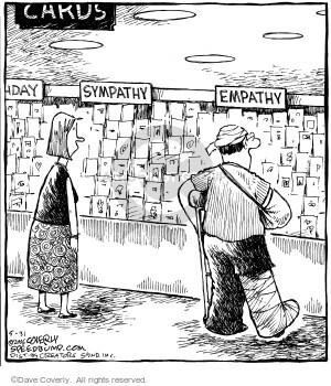 Cards.  Sympathy.  Empathy.