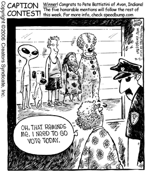 Comic Strip Dave Coverly  Speed Bump 2006-08-21 election