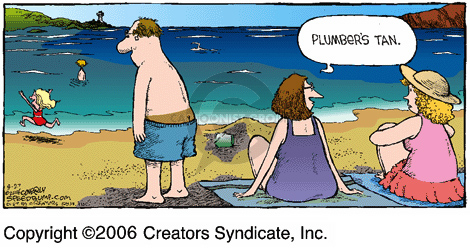Comic Strip Dave Coverly  Speed Bump 2006-08-27 butt