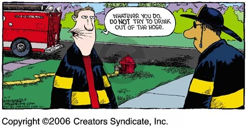 Cartoonist Dave Coverly  Speed Bump 2006-09-17 fire safety