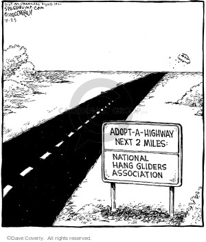 Cartoonist Dave Coverly  Speed Bump 2006-10-23 highway