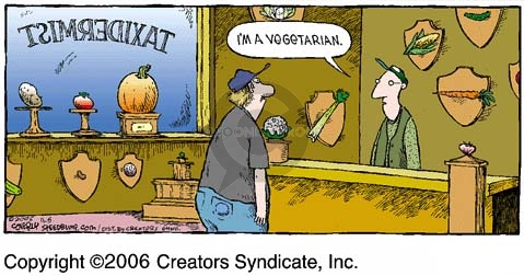 Comic Strip Dave Coverly  Speed Bump 2006-11-05 vegetarianism