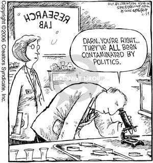 Comic Strip Dave Coverly  Speed Bump 2006-11-24 science politics