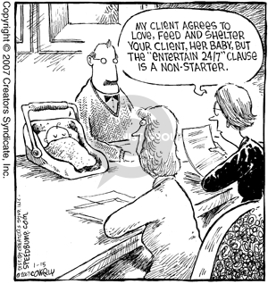 Cartoonist Dave Coverly  Speed Bump 2007-01-15 legal representation