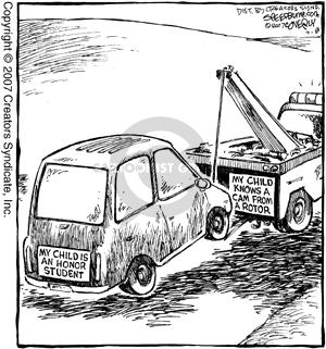 Cartoonist Dave Coverly  Speed Bump 2007-02-08 maintenance