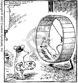 Comic Strip Dave Coverly  Speed Bump 2007-02-14 cage