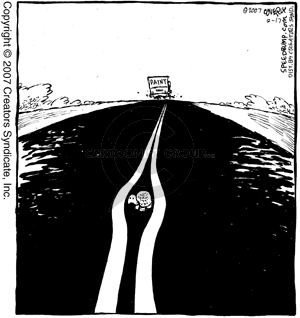 Cartoonist Dave Coverly  Speed Bump 2007-02-17 highway