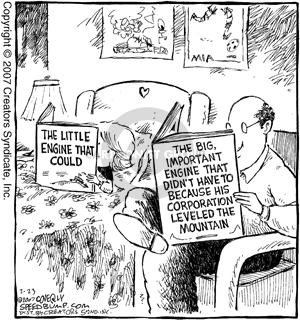 Cartoonist Dave Coverly  Speed Bump 2007-02-23 engine