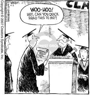 Comic Strip Dave Coverly  Speed Bump 2007-04-05 graduation ceremony